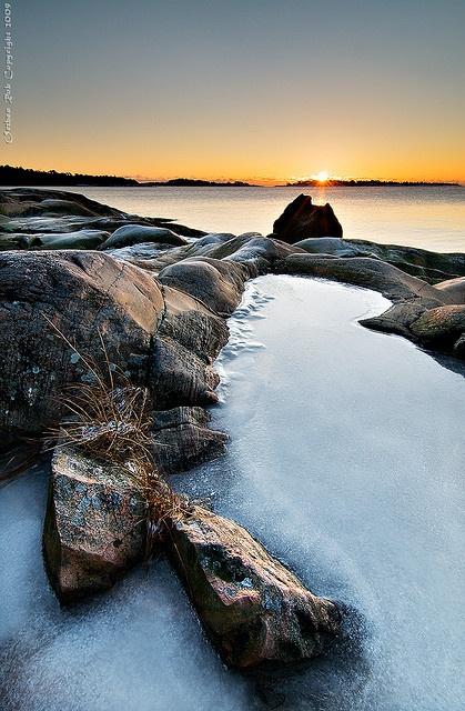 Sunrise in Porkkala, Finland
