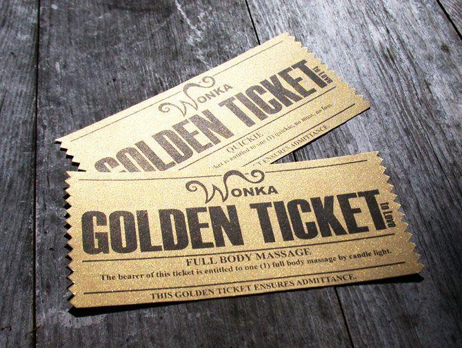 1000+ ideas about Golden Ticket on Pinterest | Willy Wonka ...