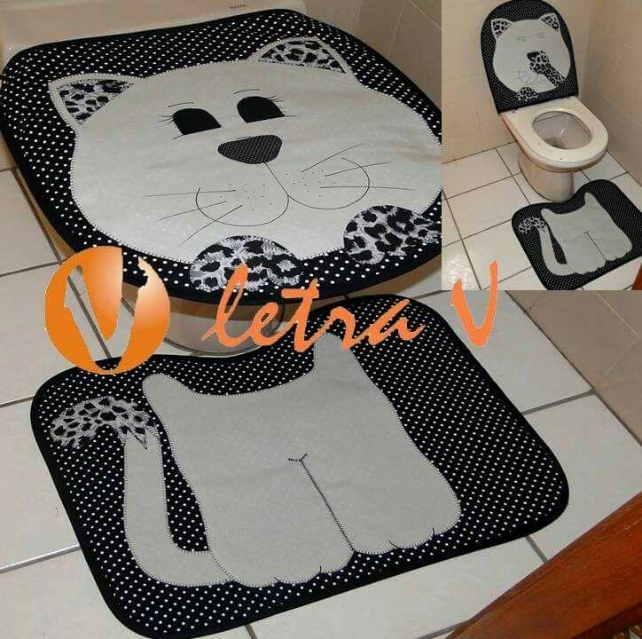Jogo De Banheiro De Gato Croche : Best jogos para banheiro images on bathroom