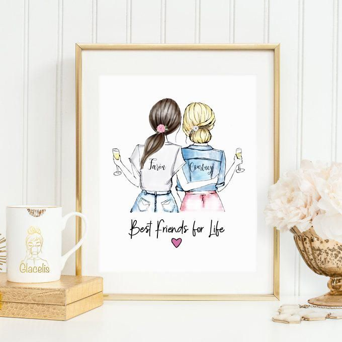 Personalized Friends Wall Art Personalized Best Friend Gifts Diy Gifts For Him Sentimental Gifts