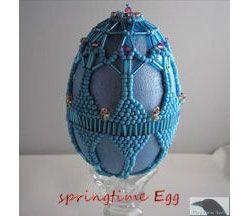 Springtime Beaded Egg Pattern at Sova-Enterprises.com