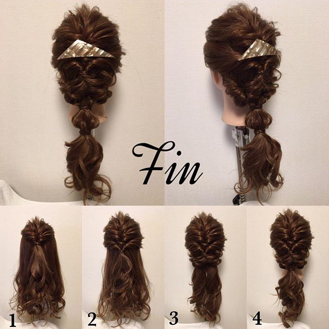 #mayahairNO38 のスタイル写真の作り方です😊 【アレンジスタイルの作り方】 ①はち上クルリンパ ②耳半分辺りまでクルリンパ ③残ってる髪の毛を縦半分に分けてそれぞれクルリンパ ④全てを一つにまとめます ⑤④の結び目の5センチ下辺りを結んで、毛束を少しずつ引き出し、丸い形を作り完成💕 #簡単アレンジ#セルフアレンジ#波ウェーブ#クルリンパ#お洒落#アレンジ#お団子ヘアー#ポニーテール#三つ編み#ヘアアレンジ#ヘアセット#髪型#ヘアスタイル#ヘアアクセ#三角バレッタ#シェリヘアデザイン#福岡#ママ美容師#beautiful#cute#love#girl#hairarrange#hair#hairset#Fashion#CHERIEhairdesign#salon#hairstyle