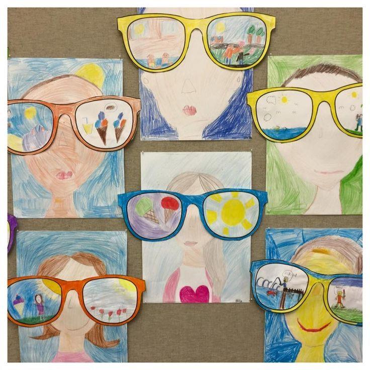 לצייר בתוך המשקפיים את מה שאוהבים בקיץ