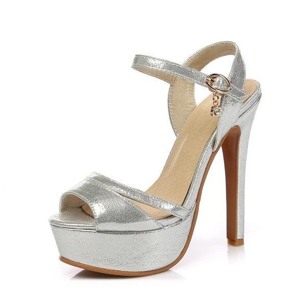 Ladies Women Summer Rhinestone Pumps Slippers High Heels Platform Shoes Size