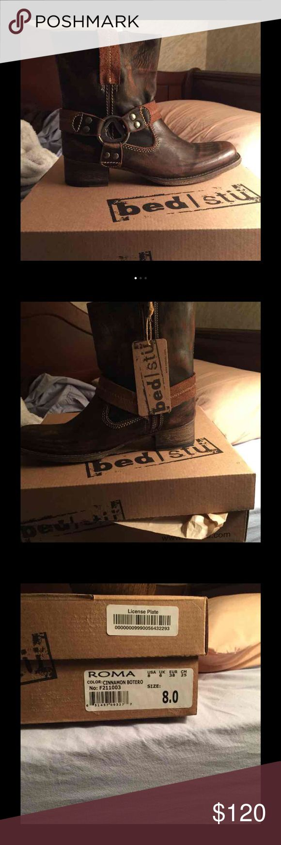 Bed stu Roma boots Bedstu bed stu Roma boots brand new in box with stuffing still inside. Bought online and had to get a bigger size. Just looking to make my money back so don't lowball please Bed Stu Shoes Ankle Boots & Booties