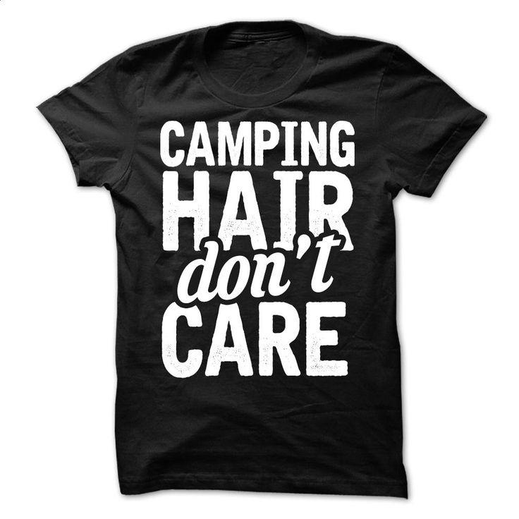 Camping Hair T Shirts, Hoodies, Sweatshirts - #clothes #hoodie jacket. I WANT THIS => https://www.sunfrog.com/Camping/Camping-Hair.html?60505