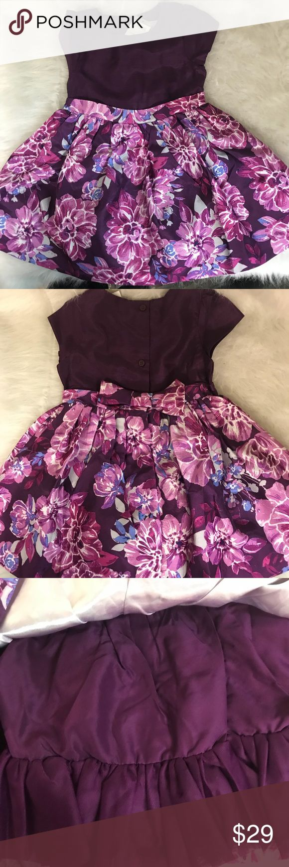 Gymboree 2 pc dress & bloomers 18-24 Mos Beautiful dress with matching wine color bloomers. Lined skirt. Just stunning. New with tags. Retail $54 Gymboree Dresses