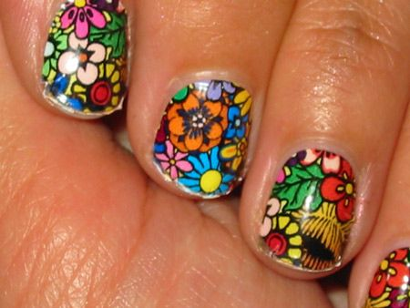 These are insane!Nails Art, Nails Design, Flower Nails, Shorts Nails, Nature Design, Flower Power, Nails Ideas, Nails Polish, Stained Glasses