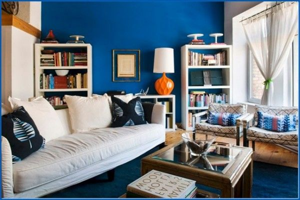 Modern-loft-apartment-interior-design-blue-living-room comfy