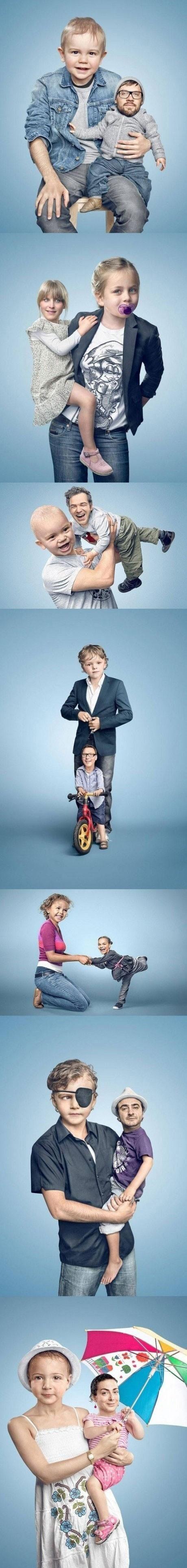 Photoshop: Die Gesichter der Eltern und der Kinder tauschen - Win Bild - Webfail