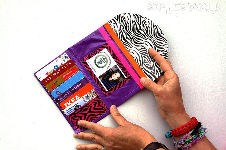 duct tape ladies wallet ducttape craft diy wallet sophie 39 s picks duct tape crafts. Black Bedroom Furniture Sets. Home Design Ideas