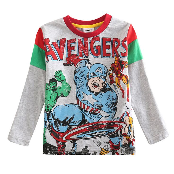 Nova kids novely design boys clothes100%cotton lovely cartoon character patten printed with striped longsleeves boys t-shirt #>=#>=#>=#>=#> Click on the pin to check out discount price, color, size, shipping, etc. Save and like it!