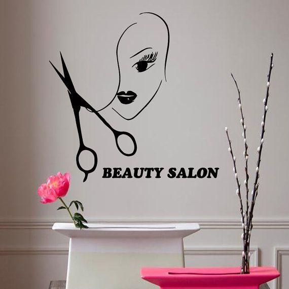 Wall Decals Vinyl Decal Girl Beauty Salon by DecalMyHappyShop