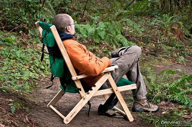 The Backpack Chair Comfortable And Wide Enough To Sit Upright To Work On A Laptop Or Adjust The B Outdoor Chairs Backpacking Chair Shabby Chic Table And Chairs