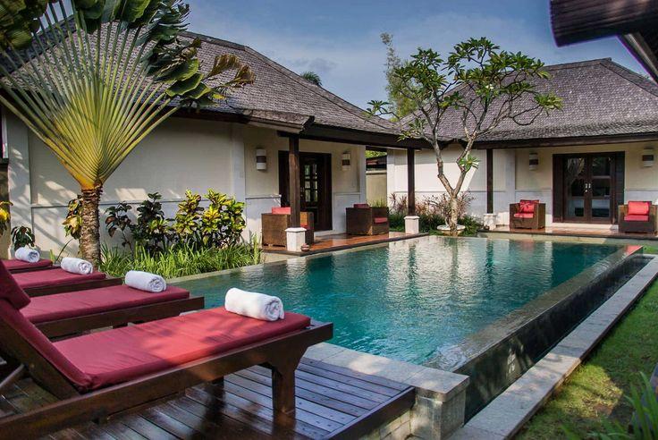 Bali Villa Photography - Ulin Villas - pool views late afternoon sunlight and shadows