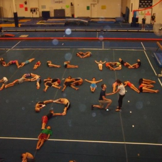 ProposalProposals Gymnastics, Gym Proposals, Funny Proposals, Gym Style, Cheerleading3, Gymnastics Style, Gym Girls, Cheer Gymnastics Proposals, Cheer Proposals