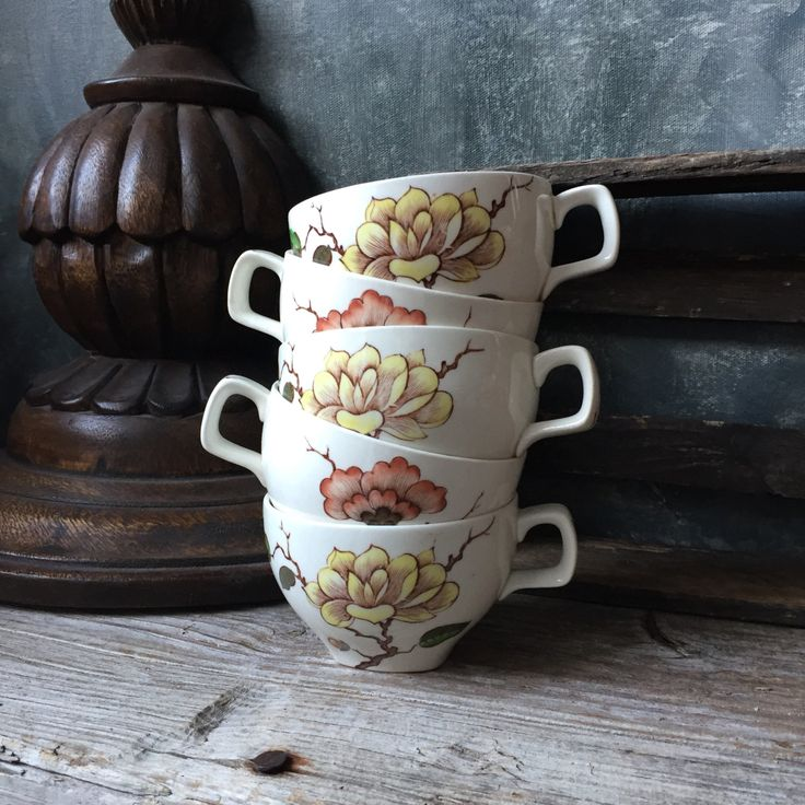 Ming Tree Tea Cups: Midwinter Jessie Tait, Set of 5 Mid Century Vintage  Floral Teacups, Midwinter England Ming Tree Tea Cups, Cottage Chic by Untried on Etsy