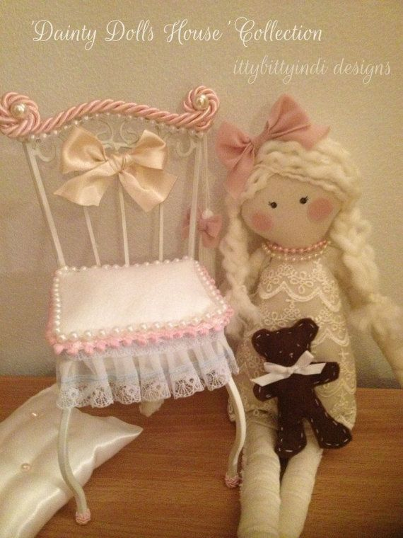 Dainty Dolls House handmade calico doll decor art doll limited edition sweet little girls collectable keepsake doll and matching accessories on Etsy, $129.95 AUD