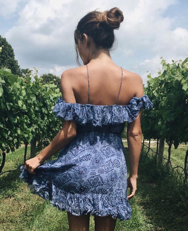 Summer Sundress; Off the Shoulders