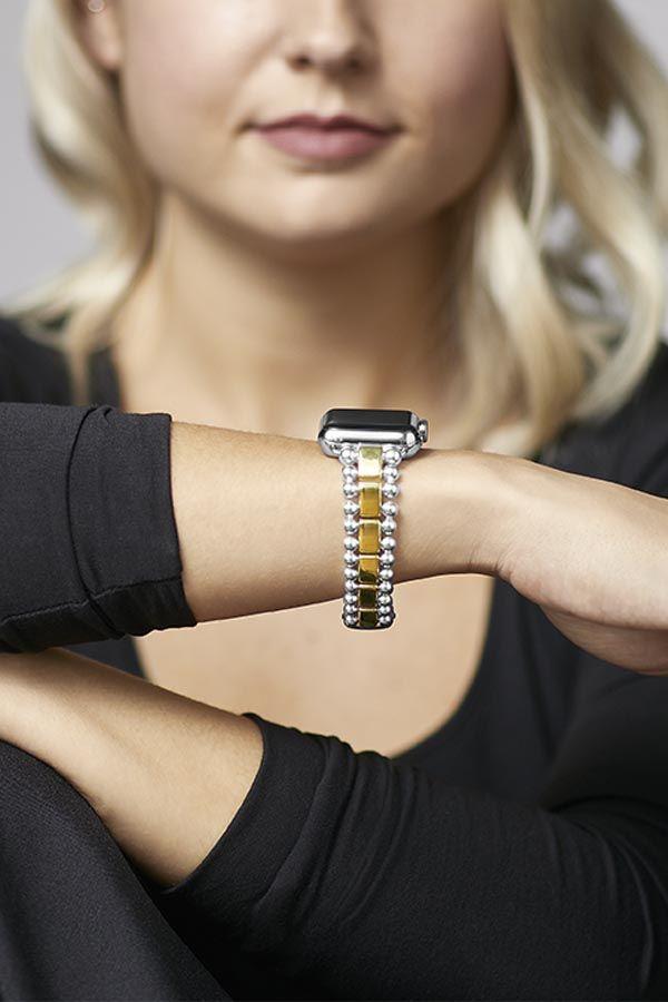 Lagos Smart Caviar Apple Watch Bracelets Fine Jewelry Designers Caviar Bracelet
