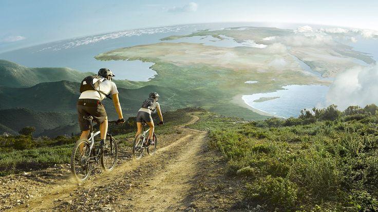 Mountain Biking down Table Mountain
