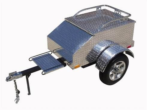The Lumina Diamond Motorcycle Trailer is a durable aluminum utility trailer.