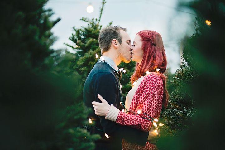 Erica Houck Photography christmas lights couple engagement winter shoot photoshoot session