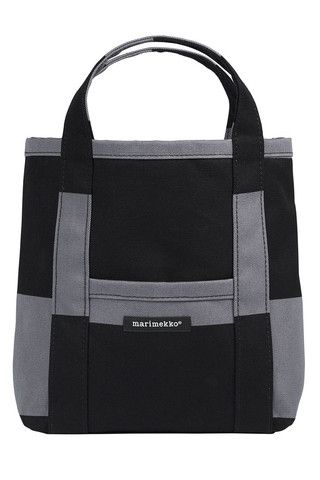 Mini Peruskassi Galleria Tote Bag Dark Grey/Black