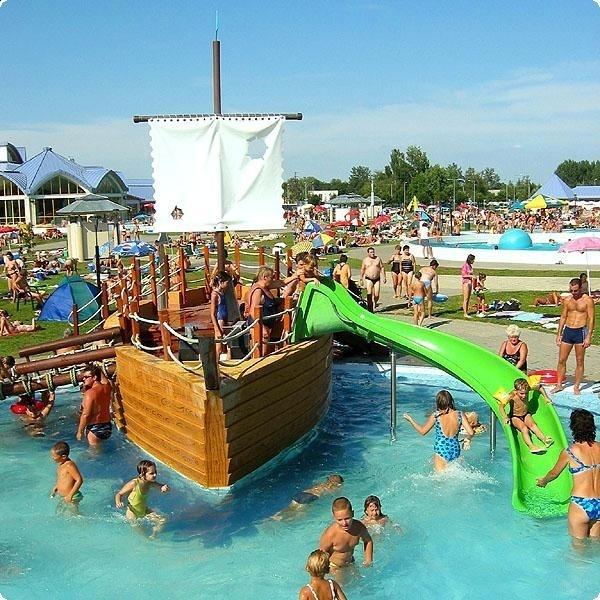 Thermal Bath and Spa, children's pool, Sárvár, Hungary