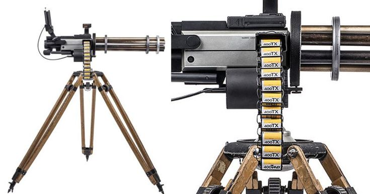 #Photography: These Guns Are Made of Camera Gear