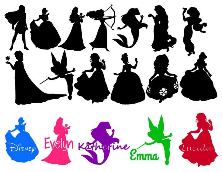 Disney Princess Silhouettes Elsa Silhouette Cameo