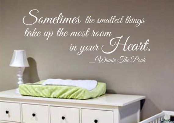 Wall Decal Quotes For Baby Nursery : Wall decal winnie the pooh quote nursery kids room