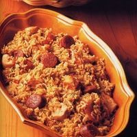 Crockpot Jambalaya by Southern Food  ~ What's not to like about shrimp, sausage, and onions!