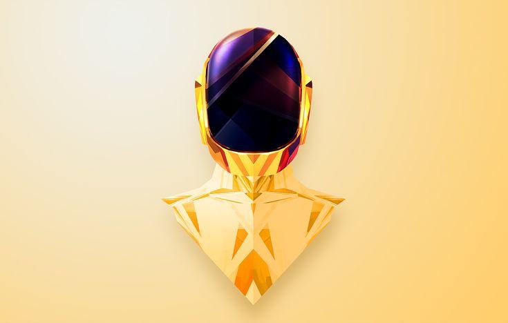 Daft Punk's Guy-Manuel by Justin Maller #Helmetica