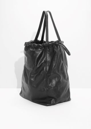 & Other Stories image 2 of Oversized Drawstring Tote in Black