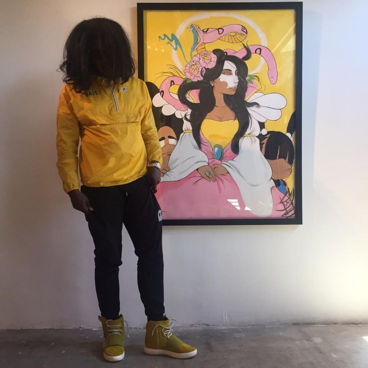Trinidad James adidas Yeezy Boost Yellow (2)