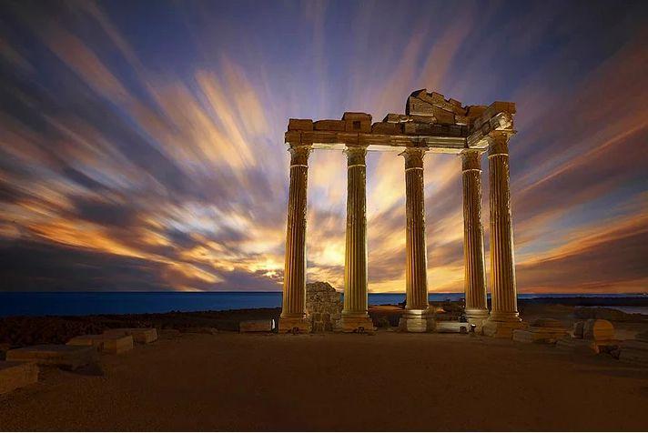 Antalya-Side Apollon Tapınağı. Fotoğraf, Necat Çetin.