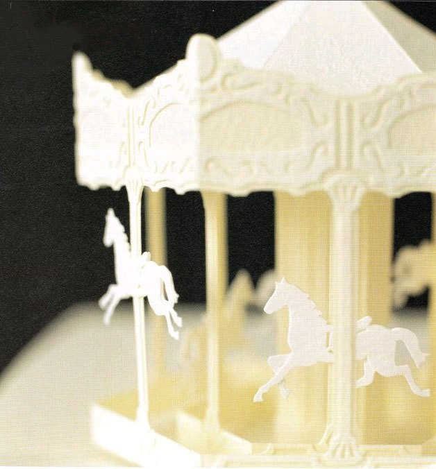 merry go round horse template - 3d paper cutting pearlescent paper merry go round carousel
