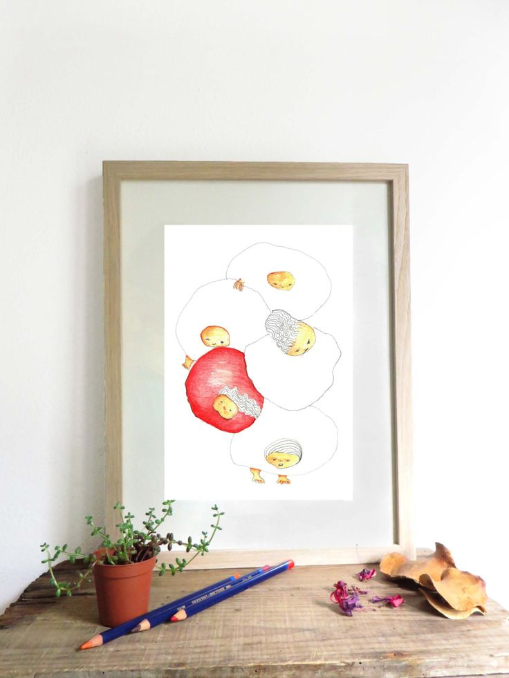 Art illustration print A4, original drawing,home decor, kids room decor, original newborn baby gift, pencil drawing, art illustrated poster by KusKatStudio on Etsy