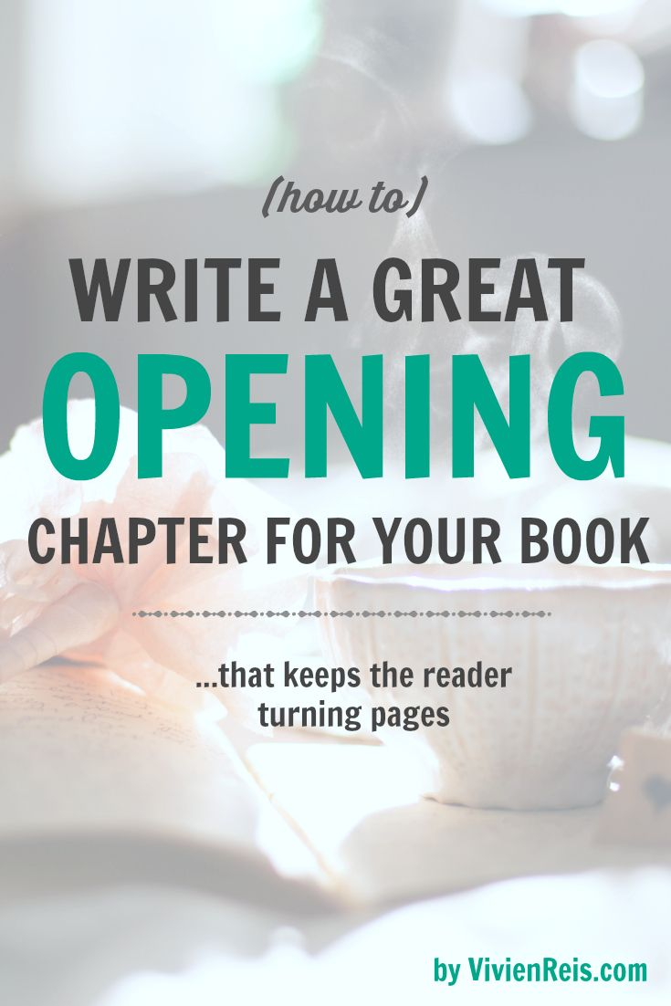 how to begin a novel first chapter