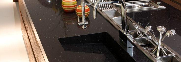 Encimera cocina y fregadero Negro Stellar