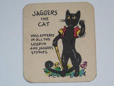 Card Pickers 1920's Jaggers The Cat Loopin & Jaggers Blue Ribbon Card