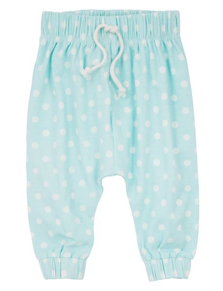 Cute and comfy, these harem pants feature an all-over spot print and an elasticated waistband. #newandnow
