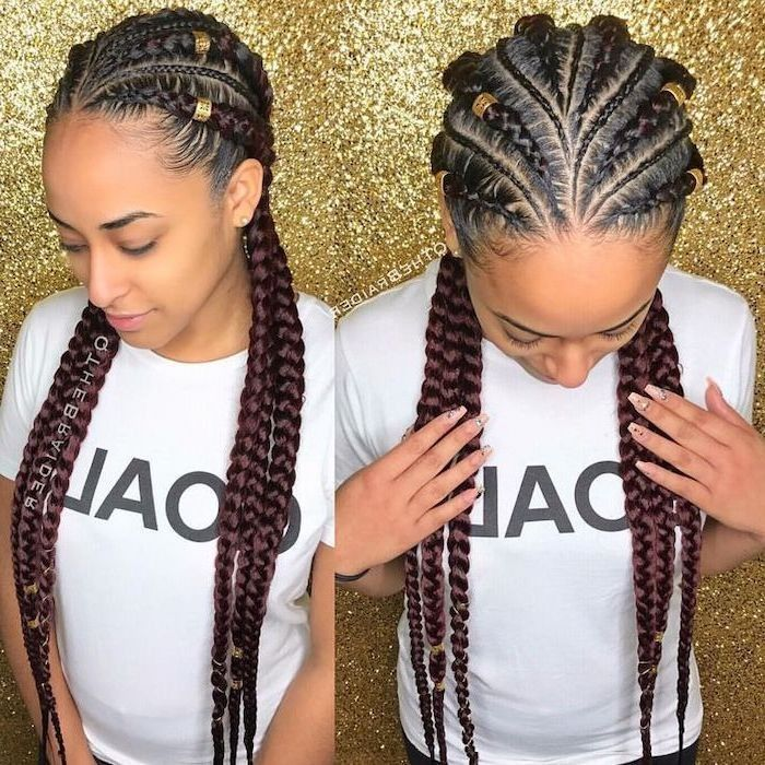 Ghana Braids For Summer 2019 The Perfect Solution To Fight The Heat And Look Stunning Goddess Braids Goddess Braids Hairstyles Braids Hairstyles Pictures