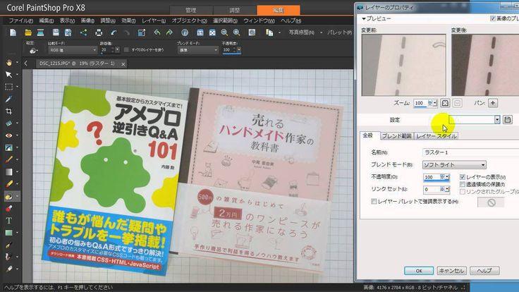 Paintshop Pro X8で写真を補正してみた