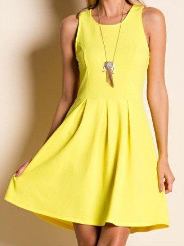 Light yellow dress casual