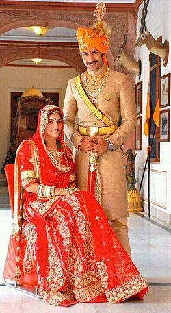 #knotsandhearts | Traditional Rajput bride with her groom from the colourful state of Rajasthan. Source - Google