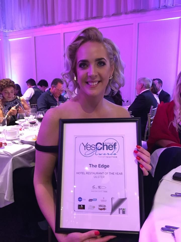 Absolutely delighted! The Edge Restaurant at Redcastle Hotel won Best Hotel Restaurant of the Year Ulster in last nights YesChef awards 😊