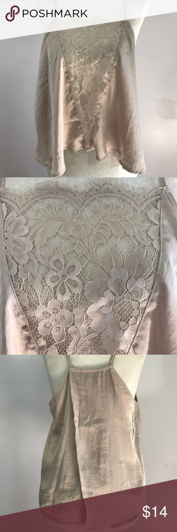 Free People Lace Cami- Med NWOT Absolutely gorgeous nude Cami!! Brand new💕 Free People Intimates & Sleepwear