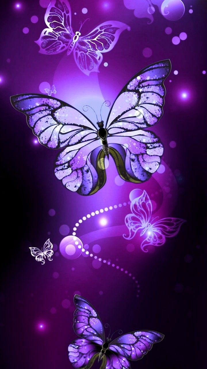 Wallpaper Purple butterfly wallpaper, Butterfly